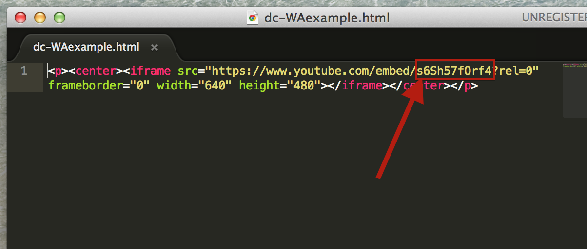 Adding a YouTube Video to a Web Archive Element : DigitalChalk Solutions