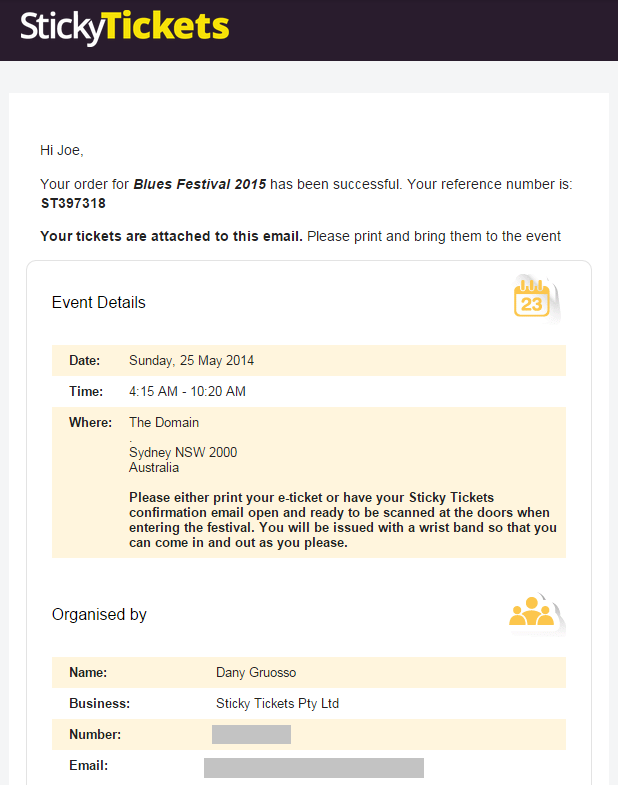 how to write a confirmation email for an event