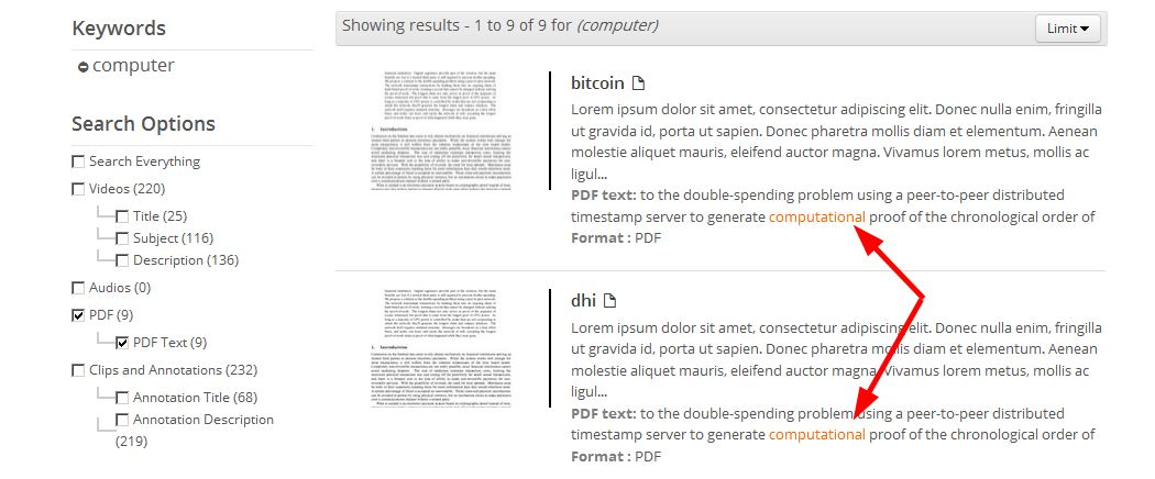 PDF Text Search Functionality : Illumira Support