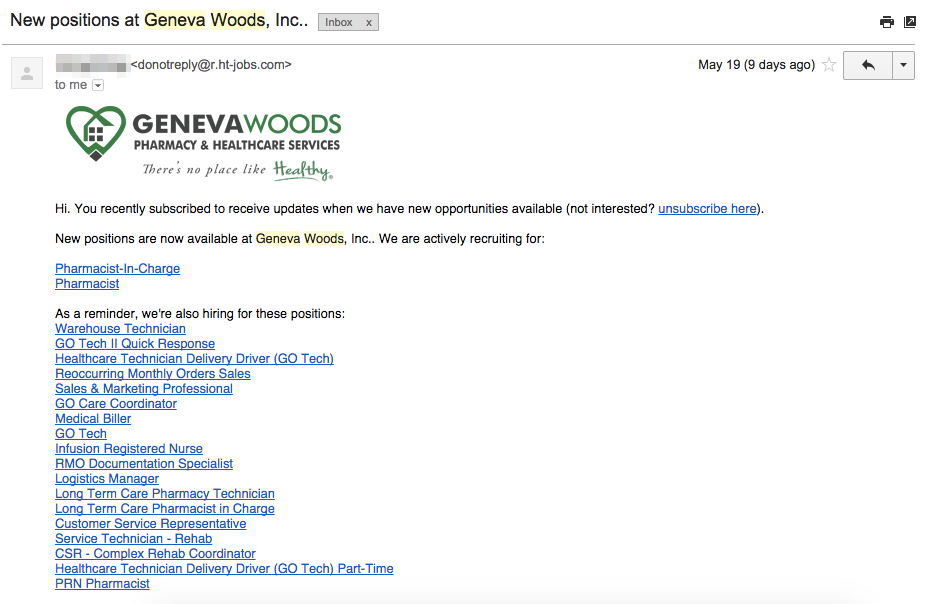 Job Alert Emails : HiringThing Support