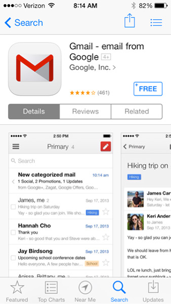 how to delete emails in gmail app on iphone