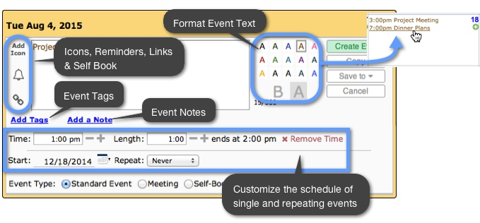 how to add an event to a shared calendar