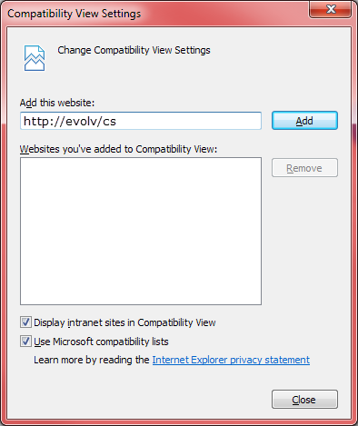 Internet Explorer 11 - Setting a Website to Display in Compatibility