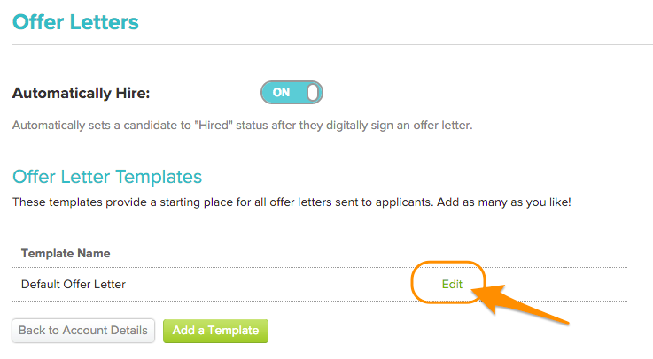 Copy an offer letter template hiringthing support then click on the copy to new button maxwellsz