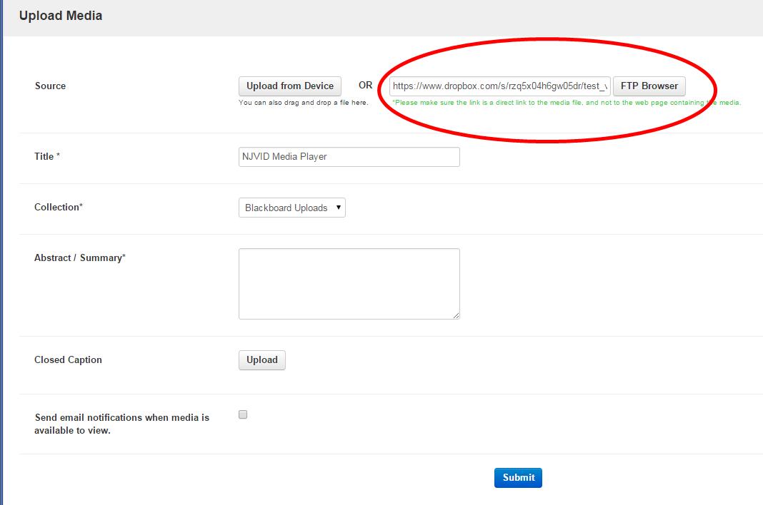 Uploading media from a Dropbox account : Illumira Support
