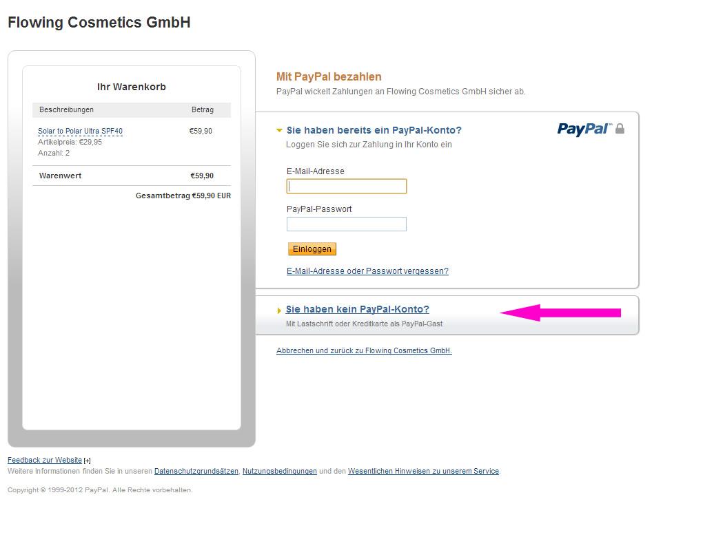 mit paypal bezahlen ohne anmeldung