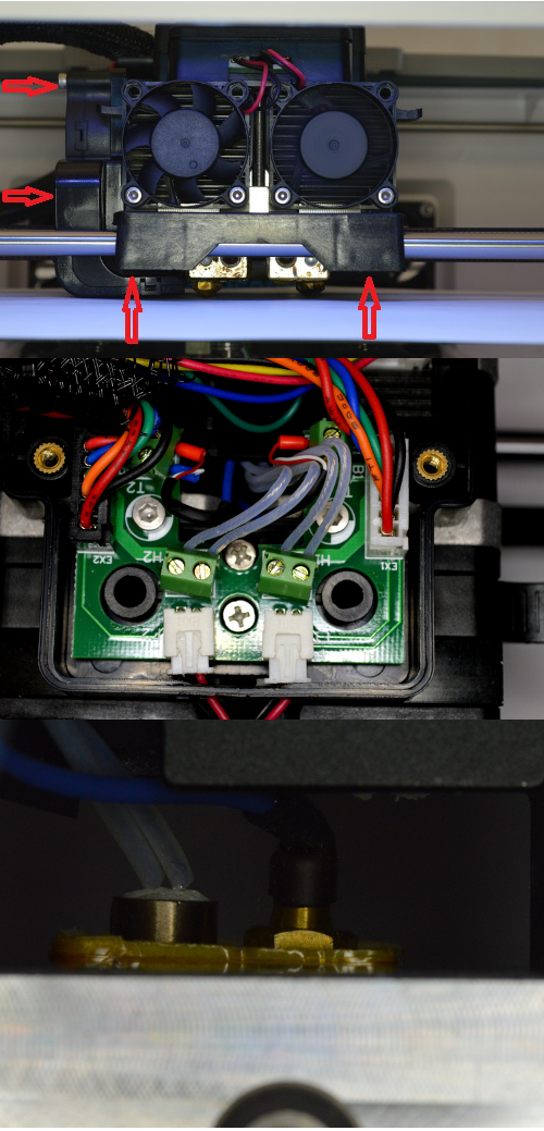 Changing thermocouple on a Flashforge Dreamer, Finder or Guider