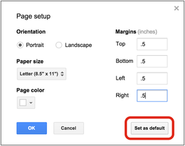 How do I change the default font in Google Docs