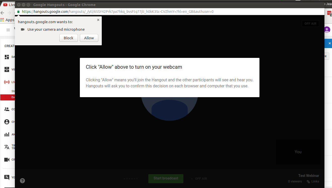 Google Hangouts Browser