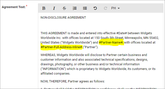 What Is The Partner Agreements Functionality And How Do I Use It