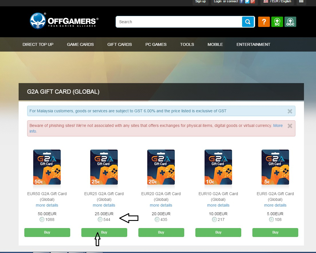 How To Activate & Pay With G2A Gift Card : OffGamers Support Center
