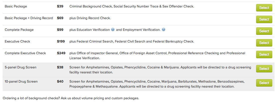 crimcheck background check packages pricing hiringthing support