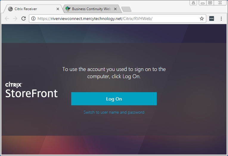 How to logon to OneView internally via a Browser