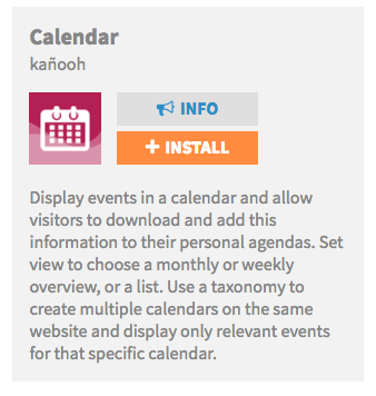 what is the calendar module and how do i use it support
