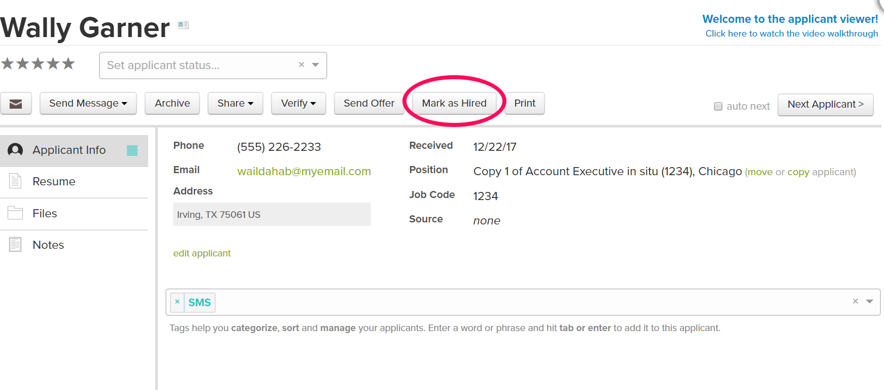Mark as Hired: Onboarding via Job Candidates in PrismHR