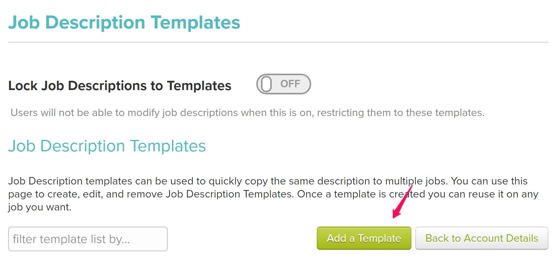 Job Description Templates : HiringThing Support