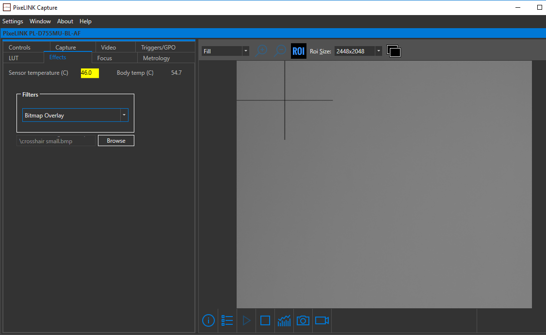 Using a Bitmap Overlay with Pixelink Capture : Pixelink Support