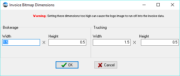 Dimensions in Inches