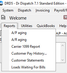 Brokerage Invoicing Reports Dr Dispatch - Quickbooks invoice report by date