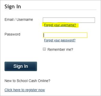 Support : Parent Support School Cash Online