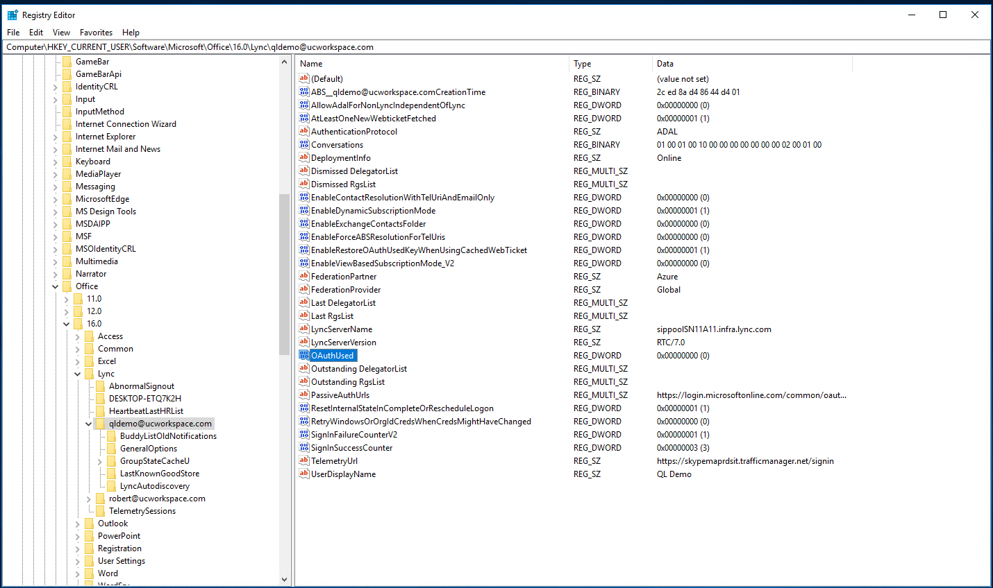 Disabling Modern Authentication for Skype for Business