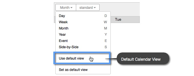 """441be14ac46 The """"Default View"""" is the view that you have selected for your Calendar in  your Calendar s """"Customize   Share"""" settings. You can choose the default  Calendar ..."""