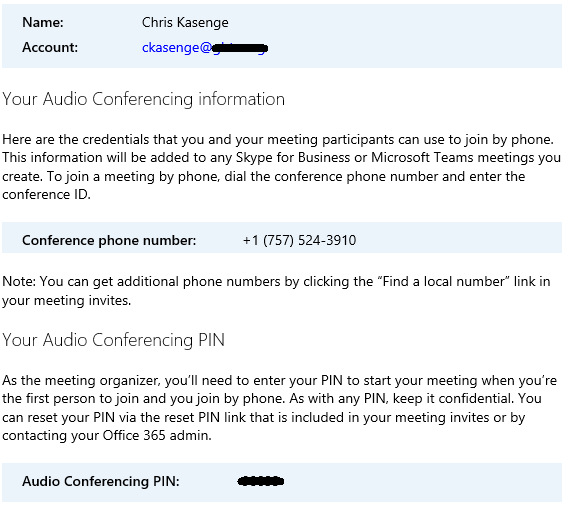 Audio Conferencing PIN : GBTA SUPPORT