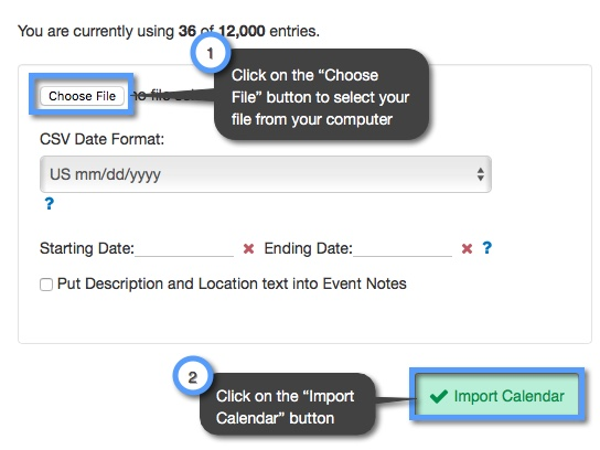 How do I import calendars into my account? | Keep&Share