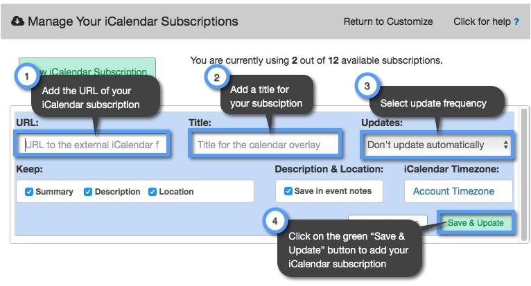 How do I publish my Apple calendar to Keep&Share