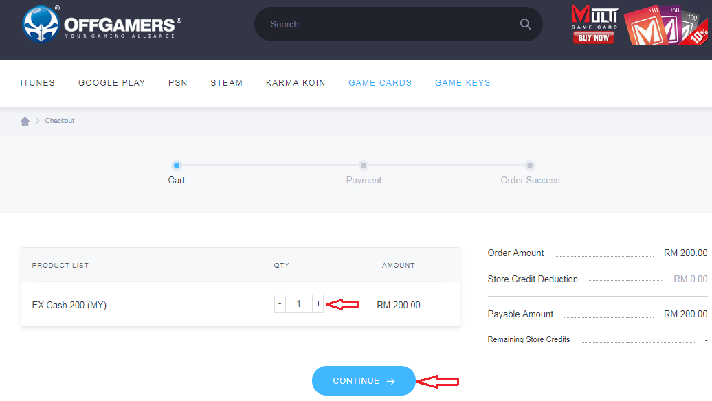 EX Cash (MY) (SG) Reload Guide with OffGamers : OffGamers Support Center