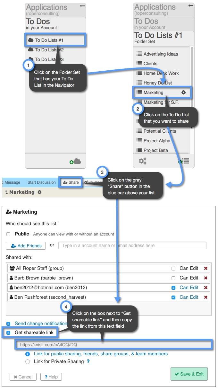 How do I create a link to my To Do list? | Keep&Share