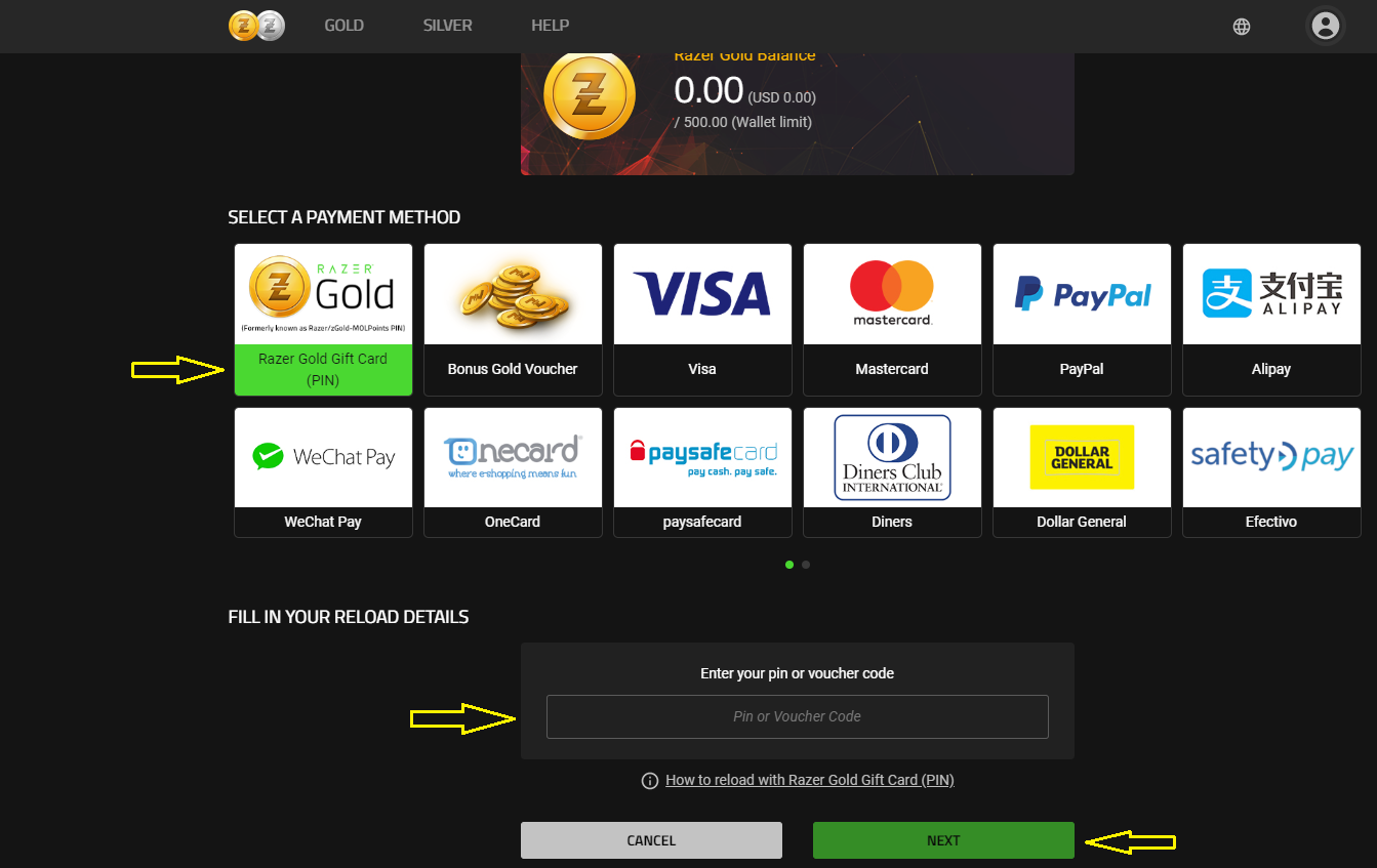 Razer Gold (Rixty Account) Reload & Upgrade Guide : OffGamers