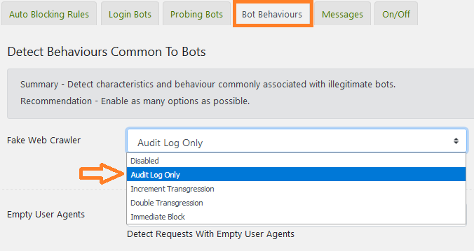 How to detect behaviours common to bots : iControlWP