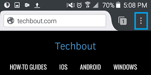 3 Dot Firefox Icon in Android