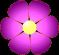 Pink Flower Clip Art at Clker.com - vector clip art online, royalty free &  public domain
