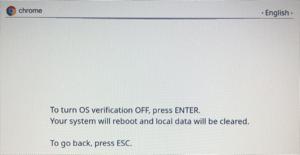 """Powerwash screenshot """"Press enter""""."""