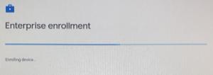 Screenshot of Enterprise Enrollment progress window