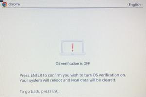 """Screenshot """"Press enter""""."""