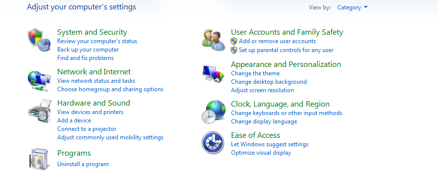 Touch not Working on Windows 7 (Tablet PC Settings