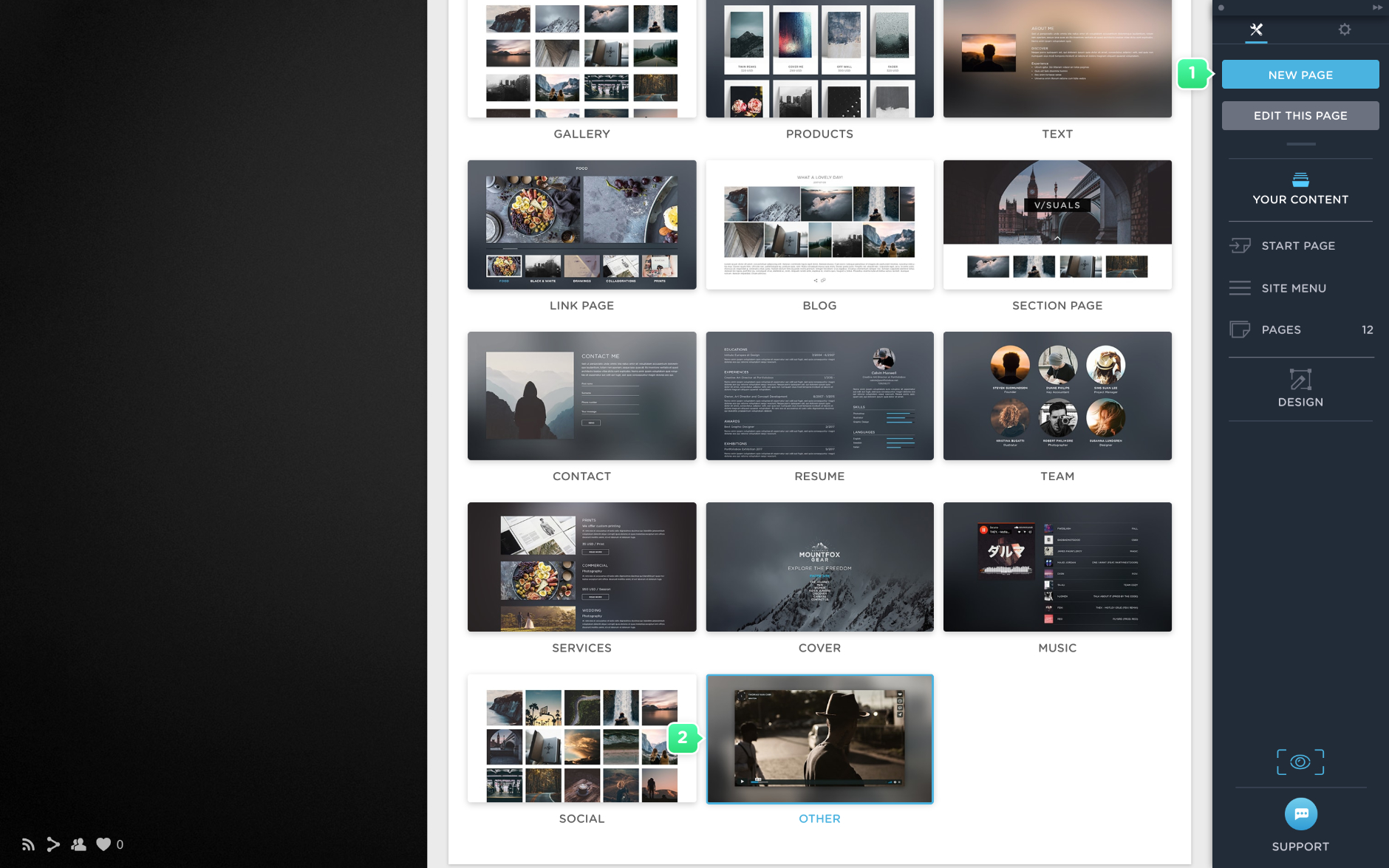 Create a video page with Portfoliobox