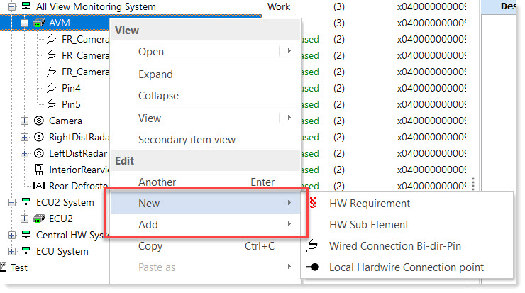 How to Restrict Add and New Options for Specific Parts :