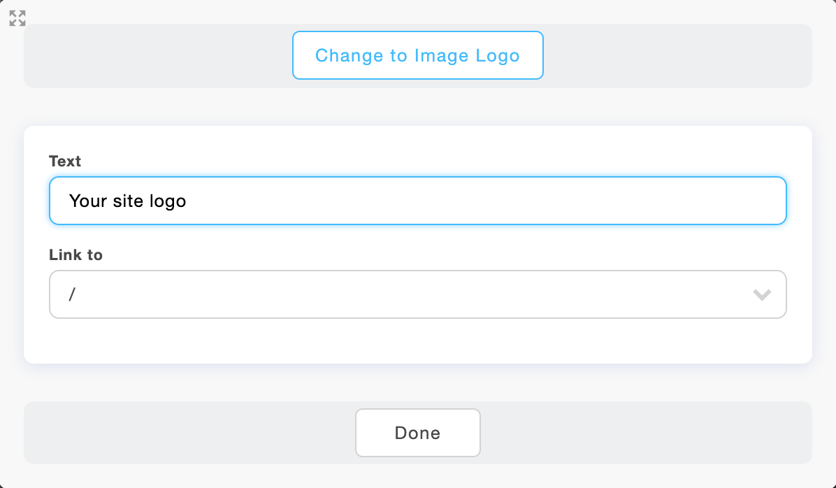 Edit the logo on your Portfoliobox site