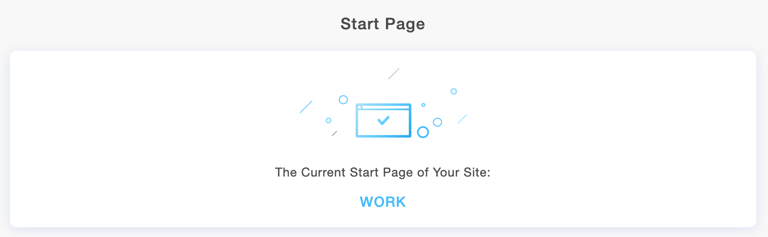 The startpage of your Portfoliobox site