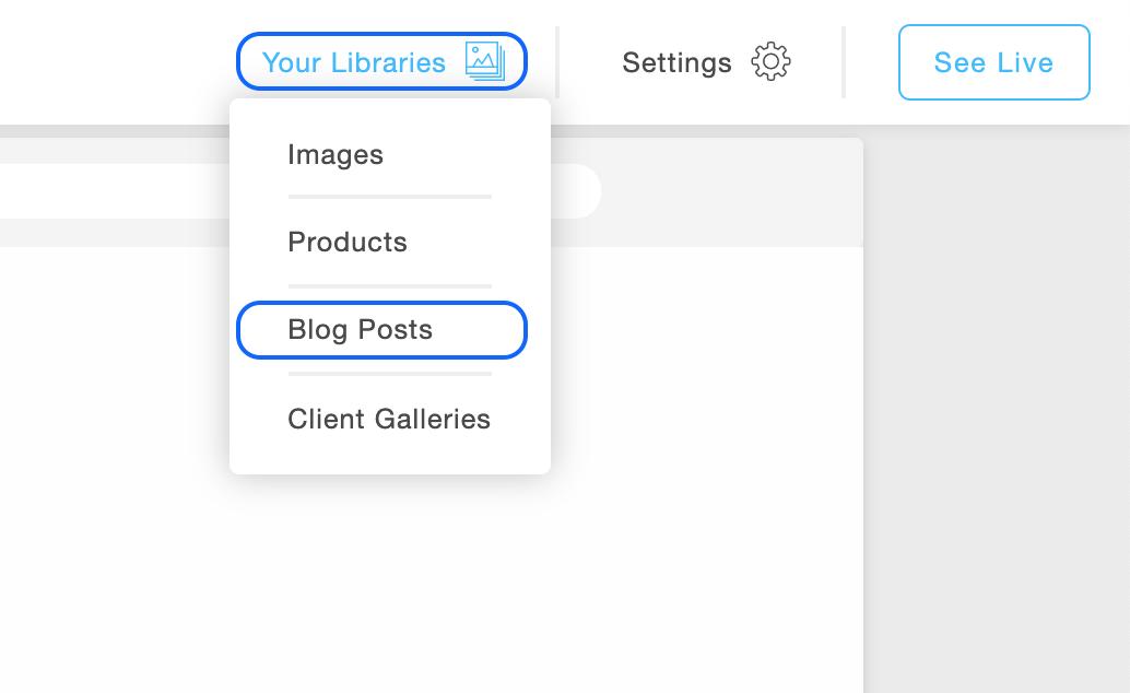 Create a blog post in Portfoliobox