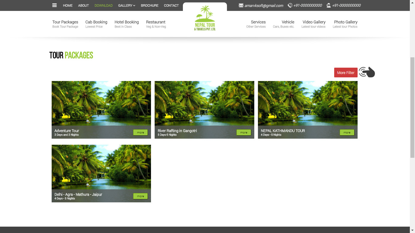 How to use Filter on Tour Package page of Travel Website ? : VK