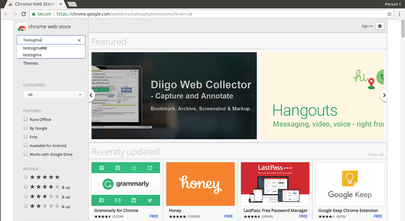 How to add Chrome Extension to a session using Desired