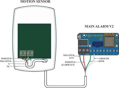 wiring your motion sensors  konnected help  support