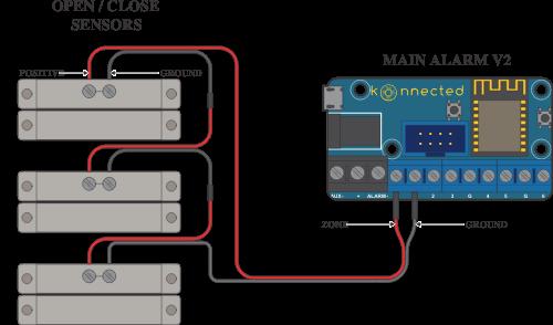 Wiring Your Window and Door Sensors : Konnected Help & Support | Window Alarm Contact Wiring Series |  | Konnected Help & Support