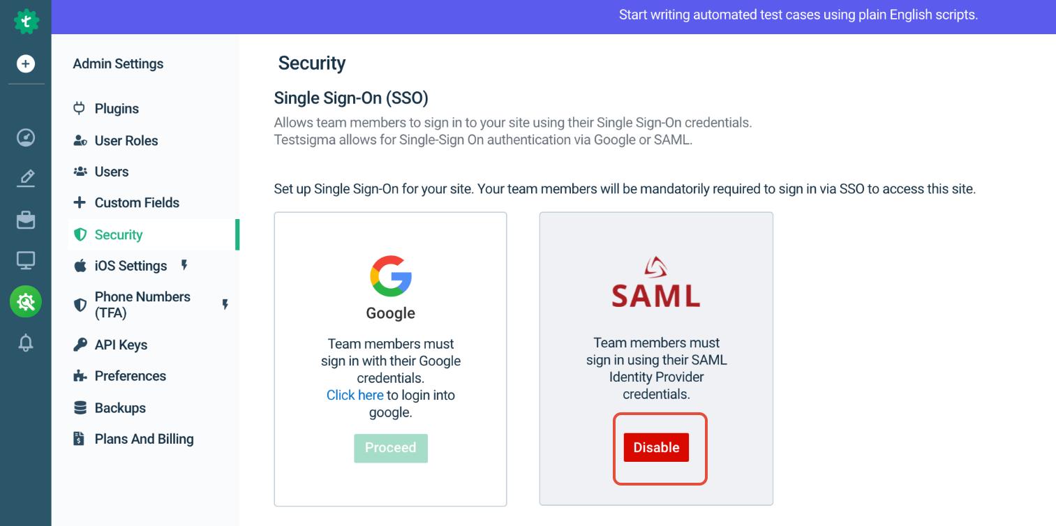 Leap UI - Security - Screenshot