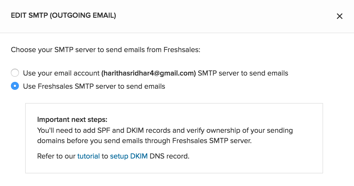 Why should I connect my email with Freshsales : Freshsales